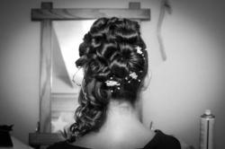 Photo de mariage la coiffure de Noémie