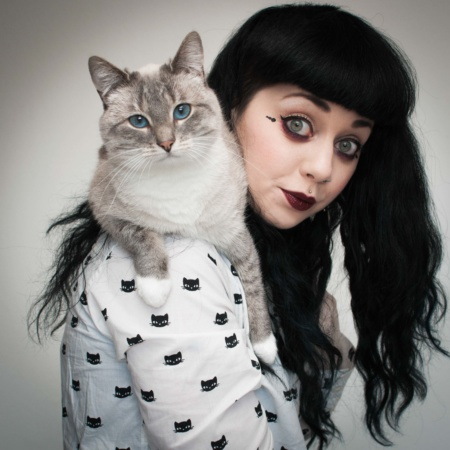Autoportrait de mon chat Opie et moi crazycatludi