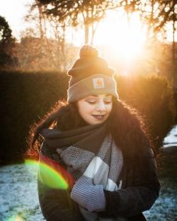 Autoportrait de Ludivine Leriche au couché du soleil